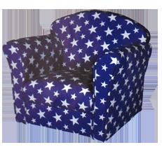Kindersessel blau  Spielwaren/Kindermöbel : Indoor Kindersessel blau mit Sternen